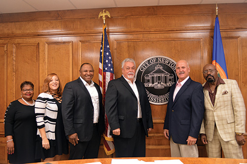 Newton Mayor and Board
